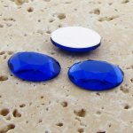 Sapphire Jewel Faceted - 25x18mm. Oval Cabochons - Lots of 72