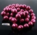WINE 16MM ROUND SMOOTH JAPANESE PEARLS - Lot of 48