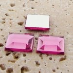 Light Pink Jewel Faceted - 12mm. Square Cabochons - Lots of 144