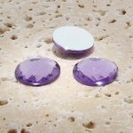 Light Amethyst Multi Faceted - 18mm Round Cabochons - Lot of 144