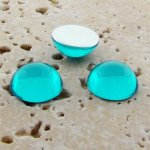 Aqua Jewel - 35mm. Round Domed Cabochons - Lots of 12
