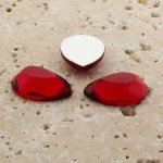 Ruby Jewel Faceted - 25x18mm. Pear Domed Cabochons - Lots of 72