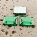 Peridot Jewel Faceted - 8mm. Square Cabochons - Lots of 144