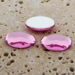 Rose Jewel Faceted- 25x18mm. Oval Domed Cabochons - Lots of 72