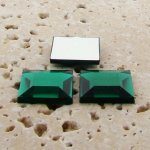 Emerald Jewel Faceted - 15mm. Square Cabochons - Lots of 144
