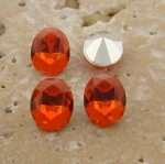 Orange Jewel - 8x6mm. Oval Faceted Gem Jewels - Lots of 144