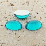 Aqua Jewel - 25x18mm. Oval Domed Cabochons - Lots of 72