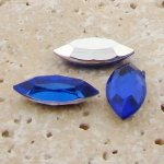 Sapphire - 15x7mm. Navette Faceted Gem Jewels - Lots of 144