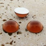 Topaz Jewel - 25mm. Round Domed Cabochons - Lots of 72