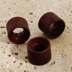 BROWN MATTE 18X14MM LARGE HOLE DONUT BEADS - Lot of 12