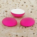 Pink Matte Frosted - 8x6mm. Oval Domed Cabochons - Lots of 144