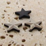 Hematite Faceted - 15mm. Star Domed Cabochons - Lots of 144