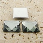 Black Diamond Jewel Faceted - 20mm Square Cabochons - Lot of 144
