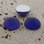 Purple Matte Frosted - 13mm Round Domed Cabochons - Lots of 144