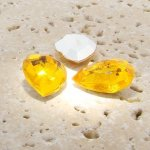 Jonquil Jewel - 25x18mm. Pear Faceted Gem Jewels - Lots of 72
