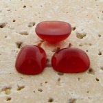 Cornelian Opaque - 15x11.5mm. Rectangle Cabochons - Lots of 144