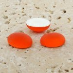 Orange Matte Frosted - 8x6mm. Oval Domed Cabochons - Lots of 144