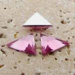 Rose Jewel Facet - 18x18mm. Triangle Cabochons - Lots of 144