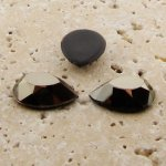 Hematite Faceted - 13x8.5mm. Pear Domed Cabochons - Lots of 144