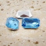 Light Sapphire - 25x18mm Octagon Faceted Gem Jewels - Lots of 72