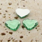 Peridot Jewel Faceted - 15mm. Heart Cabochons - Lots of 144