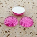 Pink Jewel Baroque Domed - 11mm. Cabochons - Lots of 144