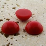 Red Opaque - 11mm. Round Domed Cabochons - Lots of 144