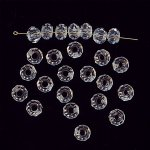 CRYSTAL 7x10MM FACETED DONUT BEADS - Lot of 12