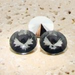 Black Diamond - 12mm. Round Rivoli Rhinestones - Lots of 144
