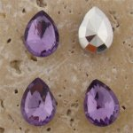 Lt Amethyst Jewel - 15x11mm Pear Faceted Gem Jewel - Lots of 144