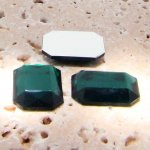 Emerald Jewel Faceted - 40x30mm. Octagon Cabochons - Lots of 12