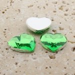 Peridot Jewel Faceted - 18mm. Heart Cabochons - Lots of 144
