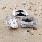 Crystal Jewel - 25x18mm. Octagon Faceted Gem Jewels - Lots of 72