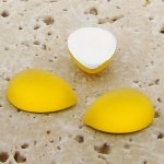 Jonquil Matte Frosted - 18x13mm. Pear Cabochons - Lots of 144
