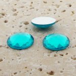 Aqua Jewel Multi Faceted - 15mm Round Cabochons - Lots of 144