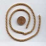 ROPE BRASS 4MM. VINTAGE CHAIN - PRICED PER FOOT