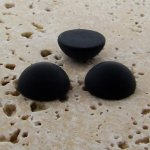 Jet Matte Frosted - 13mm Round Domed Cabochons - Lots of 144