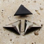 Hematite Faceted - 18x18mm. Triangle Cabochons - Lots of 144