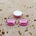 Light Pink Jewel Faceted - 9mm. Round Cabochons - Lots of 144