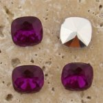 Fuchsia Jewel -12x12mm Cushion Square Faceted Jewel - Lot of 144
