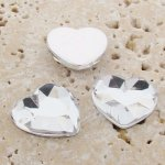 Crystal Jewel Faceted - 18mm. Heart Cabochons - Lots of 144