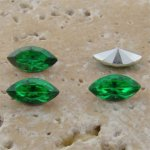 Peridot Jewel - 10x5mm. Navette Faceted Gem Jewels - Lots of 144