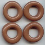 TAUPE BROWN 28MM UNIQUE DONUT BEADS - Lot of 12