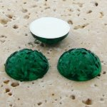 Emerald Jewel Baroque Domed - 18mm. Cabochons - Lots of 144