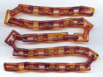"Tortoise Amber Rectangle 14mm. Link Cable Chain - 24"" per Lot"