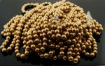 GOLD 8MM ROUND SMOOTH JAPANESE PEARLS - Lot of 91