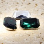 Emerald Jewel - 25x18mm. Octagon Faceted Gem Jewels - Lots of 72