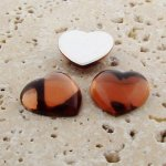 Topaz Jewel Smooth - 18mm. Heart Domed Cabochons - Lots of 144