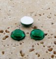 Emerald Jewel Faceted - 9mm. Round Cabochons - Lots of 144