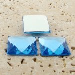 Light Sapphire Jewel Facet - 20mm Square Cabochons - Lots of 144